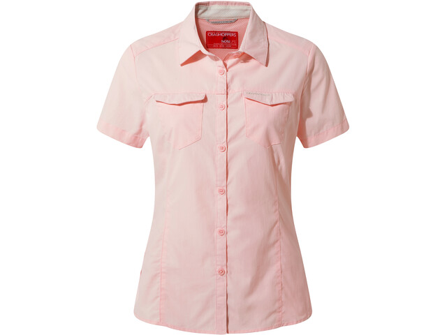 Craghoppers NosiLife Adventure II Chemisier manches courtes Femme, seashell pink